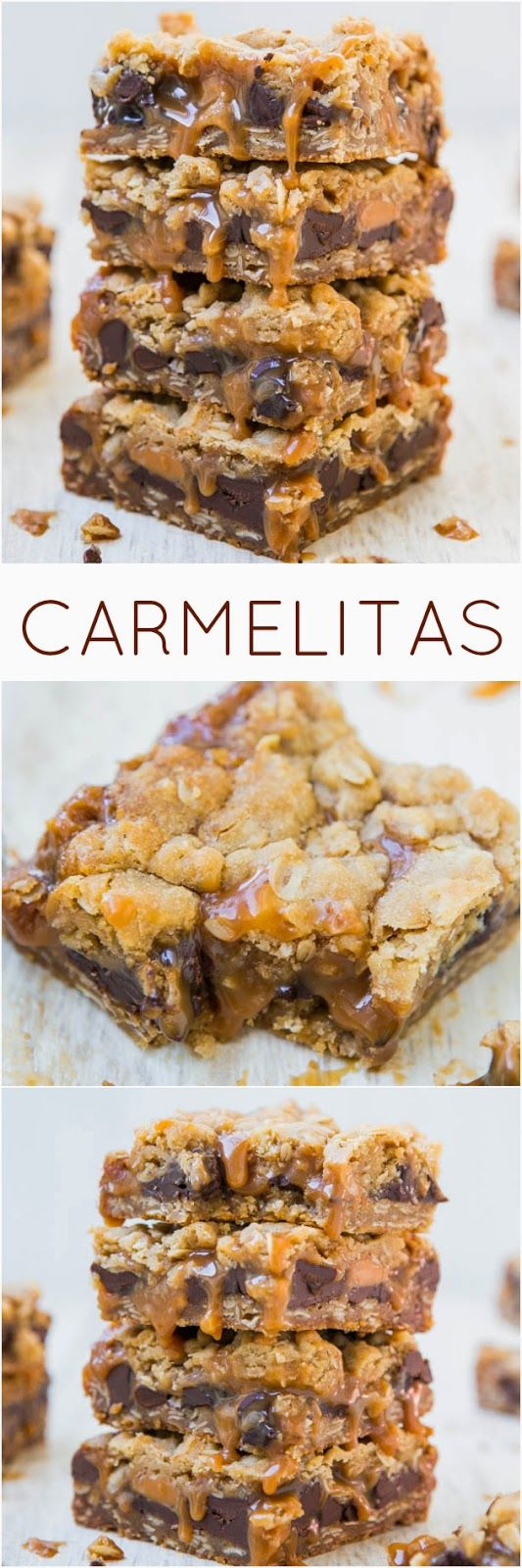 Carmelitas | These look so gooey and delicious! I always get a carmelita bar when I go to Whole Foods.