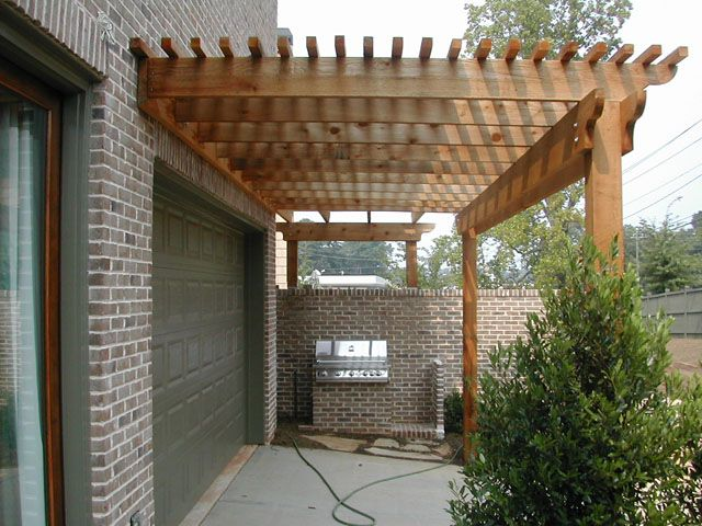 Amazing Front Yard Trellis Ideas Part - 7: Over The Garage Door And To Meet Up W/front Porch Overhang-let The