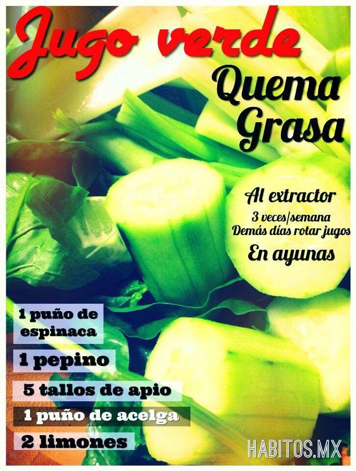 Jugo Verde Quema Grasa... de Habitos.mx