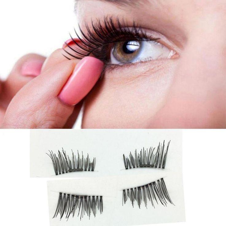 1 Pair 3D Magnetic False Eyelashes - Reusable
