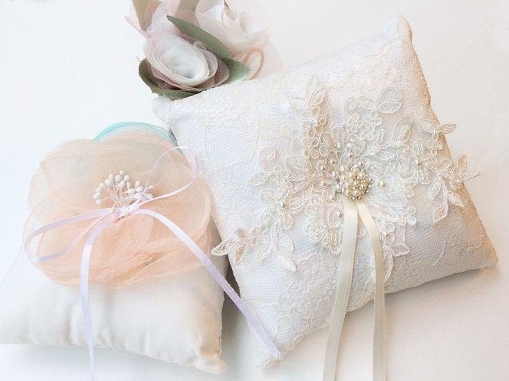 Wedding Ring Pillow, Ring Bearer Pillow, Wedding Pillow, Wedding Ring Pillow, Ring Bearer, Lace Ring Pillow, Rustic Wedding, Ring Cushion by JasmineLoveHandmade on Etsy https://www.etsy.com/hk-en/listing/263541980/wedding-ring-pillow-ring-bearer-pillow