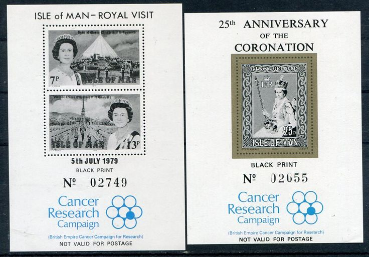 Francobolli - Lotta contro il cancro - Fight against cancer Isola di Man 1979