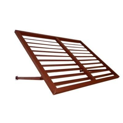 Beauty Mark 6 Ft Houstonian Metal Standing Seam Awning 24 In H X 24 In D In Copper H22 6cop Metal Shutters Metal Awning Door Awnings