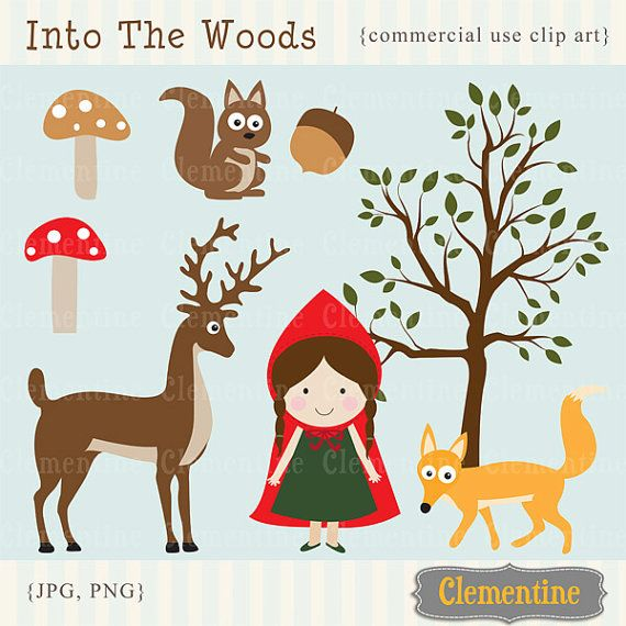 Little Red Riding Hood clip art images, Royalty free clip art, Little Red Riding Hood clipart- Instant Download on Etsy, $5.00