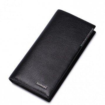 Elegancki długi męski portfel Czarny