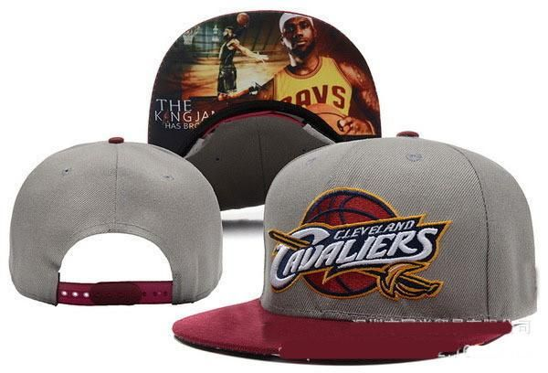 Cleveland Cavaliers 2016 Gray LeBron James Cavs with Berry Blend Logo Cap