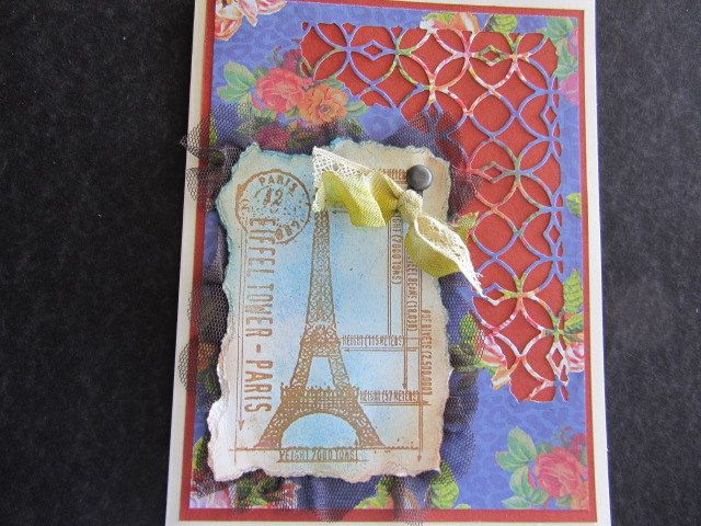 Shabby Chic Paris Card / Vintage-Look Paris Card / Distressed, Cottage Chic Paris Card / Wife, Mom, Friend, Birthday, or Any Occasion Card by GInHerCornerStudio on Etsy