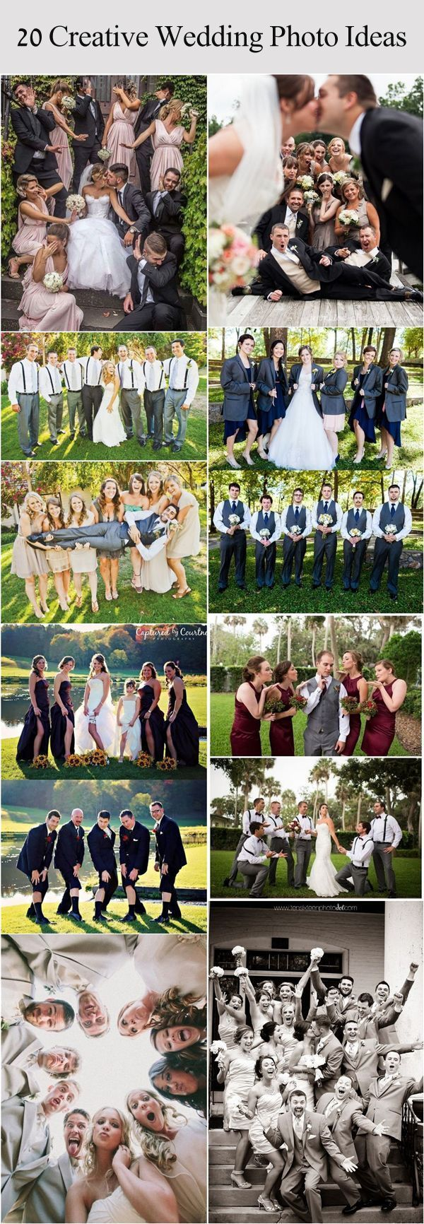 Funny wedding party photo ideas with bridesmaids and groomsmen / www.deerpearlfl... - Wedding Fotoshooting