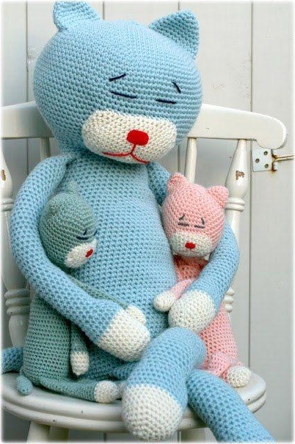 Laid Back Cat Amigurumi : De 25 beste afbeeldingen over knuffels haken op Pinterest ...