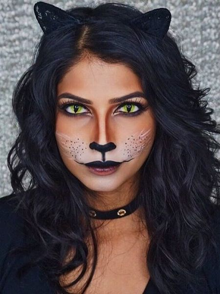 Major Halloween inspo from this black cat makeup tutorial.