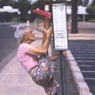 Super busstop old school yoga!