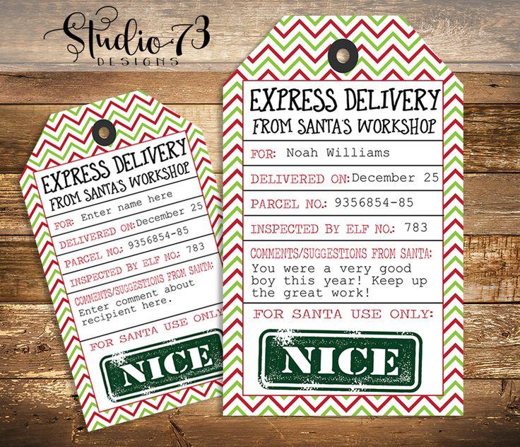 FREE Editable And Printable Christmas Gift Tag From Santa