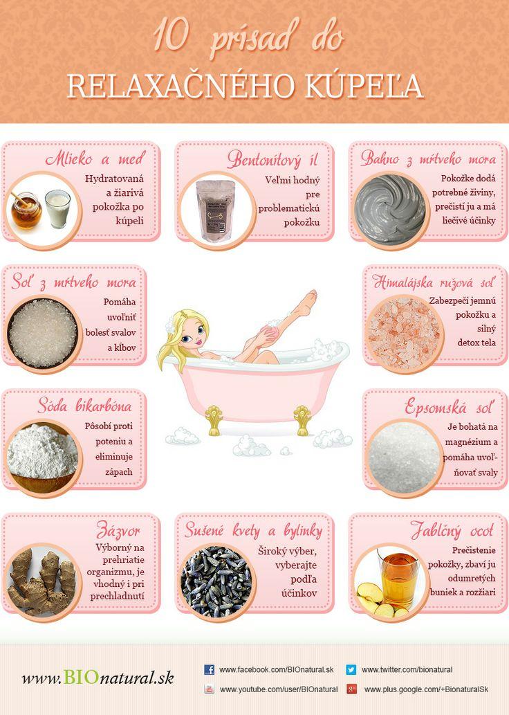 10 prísad do relaxačného kúpeľa http://www.bionatural.sk/blog/uvolnite-sa-oddychnite-si-je-cas-na-relaxacny-kupel-infografika/