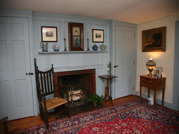 Colonial era paneling and cupboards