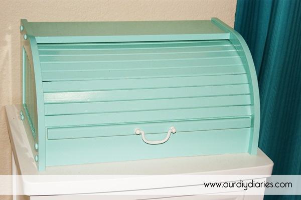 Diy Bread Box Makeover Easy Handle Amp Spray Paint Diy