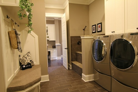 Laundry Room With Bench Dream Home Pinterest