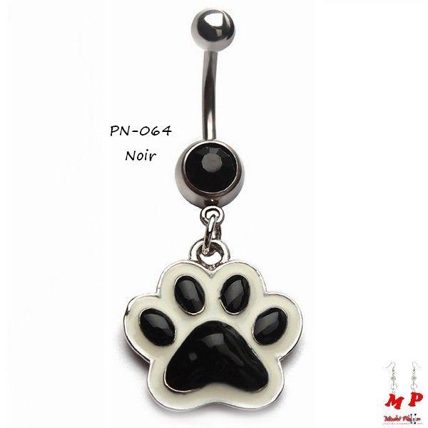 Sélection de piercings nombril pendentifs à petits prix sur Modet Plaisirs. Piercing nombril pendentif empreinte de patte de chien noire. Matière: Acier chirurgical.