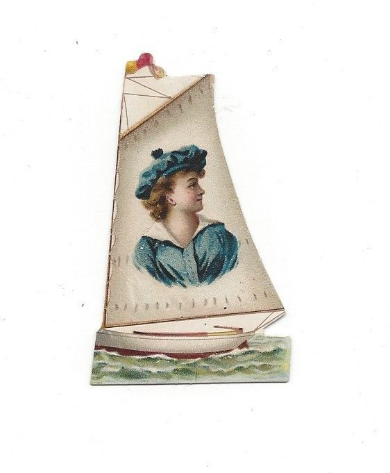 Victorian Die Cut Scrap Kinney Mini Trade Card