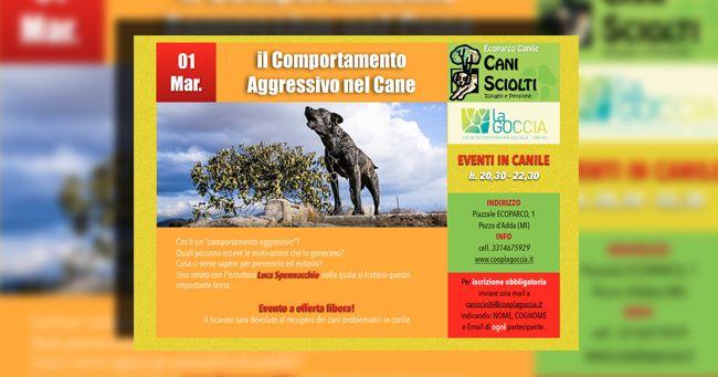 """L'agressività del cane in """"Eventi in canile"""" con canile cani sciolti e Luca Spennacchio"""