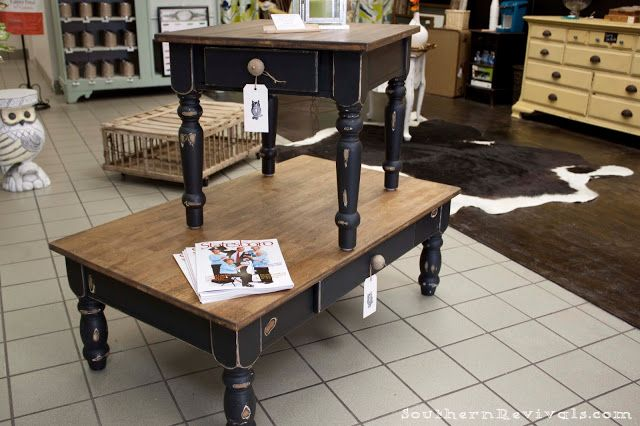 Southern Revivals: Pottery Barn Inspired Coffee & End Table Revival