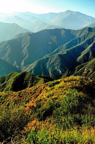 Mount Baldy in San Gabriel Mountains, California