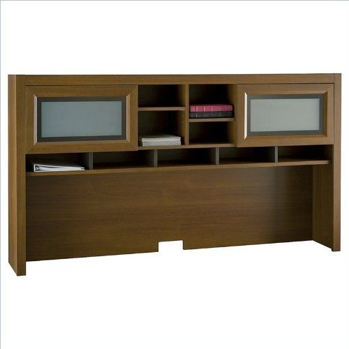 BUSH BUSINESS FURNITURE Bush Industries Achieve Collection Hutch in Warm Oak Finish  //Price: $ & FREE Shipping //    #office #officelife #officeview #officeworks #myoffice #officegirl #officetime #officework