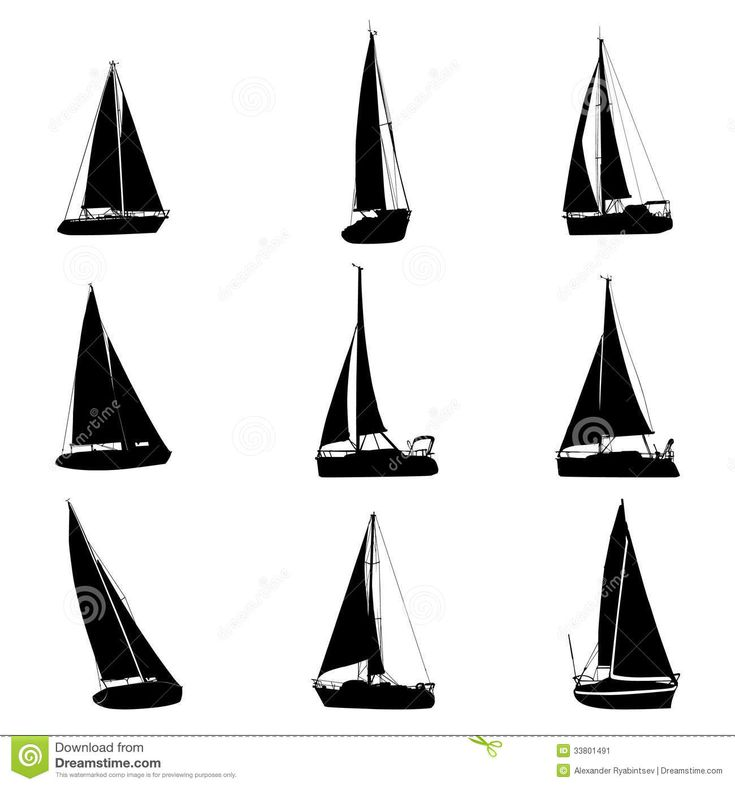 yachts-silhouettes-icon-set-33801491.jpg (1300×1390)