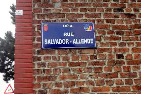 calle Salvador Allende. Liège, Bélgica