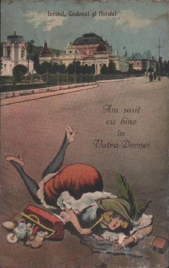 Vatra Dornei - Izvorul,Cazinoul si Hotelul din anii 1900