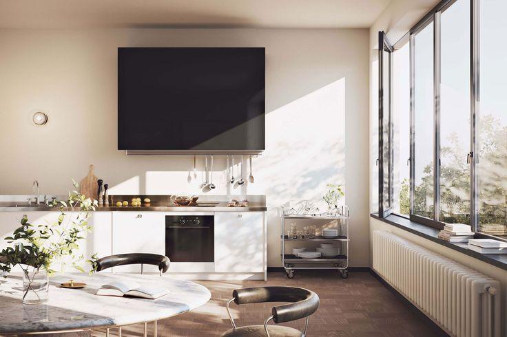 Uppsala, Oscar Properties, kitchen, view, design, inspiration, sweden