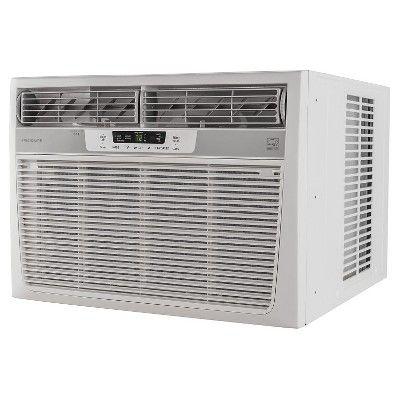 Frigidaire - 18000-Btu 230V Window-Mounted Median Air Conditioner with Temperature Sensing Remote - White