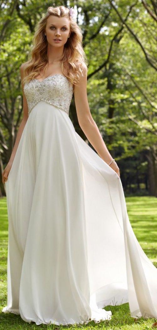 Appliques Brush Train Sleeveless A-line Chiffon Sweetheart Crystals Empire Wedding Dress