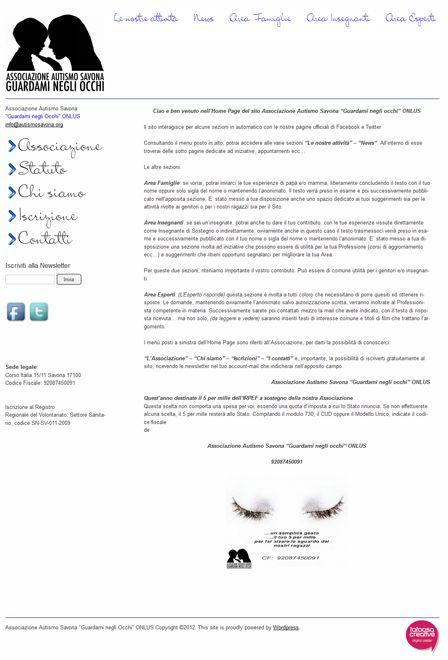 Ideazione e realizzazione mini-sito (Tema wordpress) web con studio e ridefinizione dell'identità visuale e grafica.