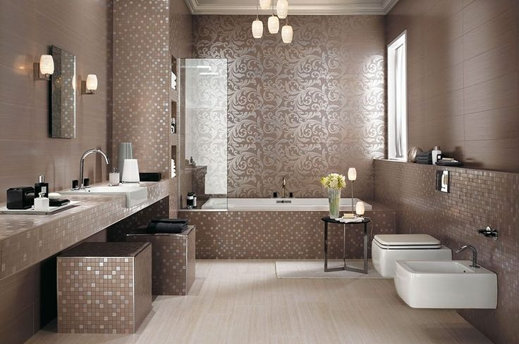 Дизайн большой ванной комнаты в нежных и теплых коричневых тонах в современном стиле. #дизайн_ванной #бежевая_ванная_комната #коричневая_ванная_комната #современная_ванная_ комната #современный_дизайн