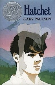 Hatchet By Gary Paulson While flying over the Canadian wilderness to visit his father, the pilot of the single-engine aircraft carrying thirteen-year-old Brian has a heart attack and dies, leaving Brian to crash land the plane into a lake.