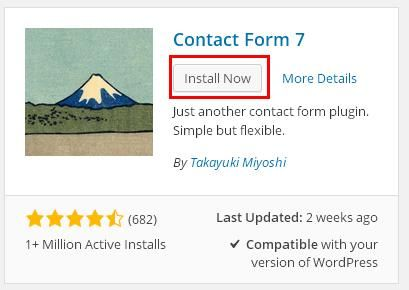 cara menginstall plugin contact form 7