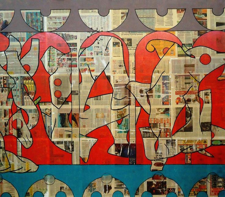 "Venus Amigo (mixed technique on canvas) 75""x80"" 2011"