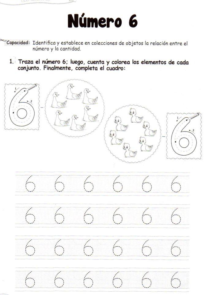 El número 6: 5 años - Material de Aprendizaje