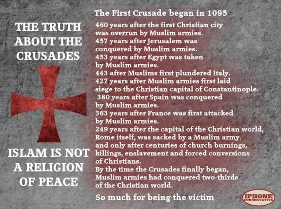 Crusades - Facts - islam is not a religion. | No to islam~Freakin ...