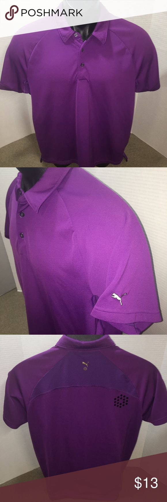 Puma Men's Purple Polo Shirt Size Large In excellent preowned condition. Men's Size Large. Puma - lightweight and breathable. Purple in color Puma Shirts Polos