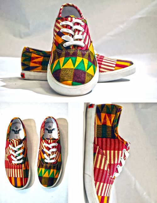www.cewax.fr aime ces basket de style ethnique afro tendance tribale tissu wax africain sneakers african prints ankara kente vert jaune rouge