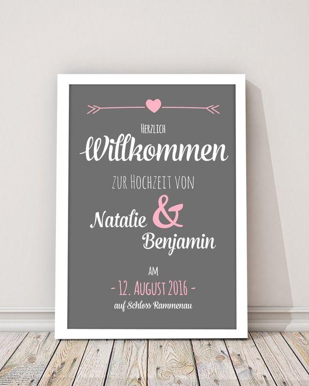 """Poster zur Hochzeit """"Tafel"""" Druck"""