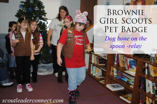 Brownie Pet Badge girls learned about their pet, built them a home, what they eat, and more. Played relay games, and sung a pet song.