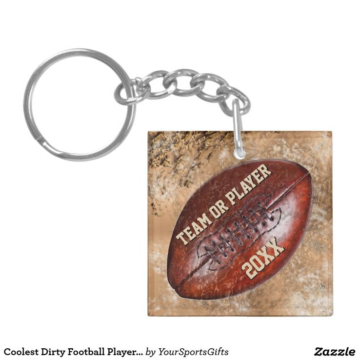 Coolest Dirty Football Players Gifts PERSONALIZED Keychain   Zazzle.com
