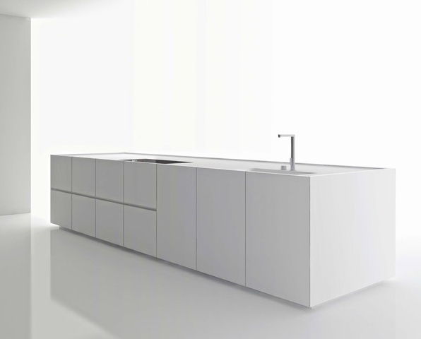 Clean and minimal kitchen island, K20 by Norbert Wagner for Boffi _