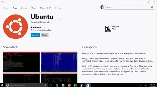 Ubuntu ya está disponible en la Windows Store.   El mes pasado les hablamos sobre el nuevo movimiento de Windows donde ofrecería tres distribuciones de Linux en su Windows Store si te perdiste de la noticia te invitamos a leerla desde aquí. Pues bien Microsoft lo había prometido y cumplió a partir del pasado 10 de julio del presente año esta disponible para su descarga y desde la tienda de aplicaciones nada más y nada menos que Ubuntu. Con este gran movimiento por parte de Microsoft con la…