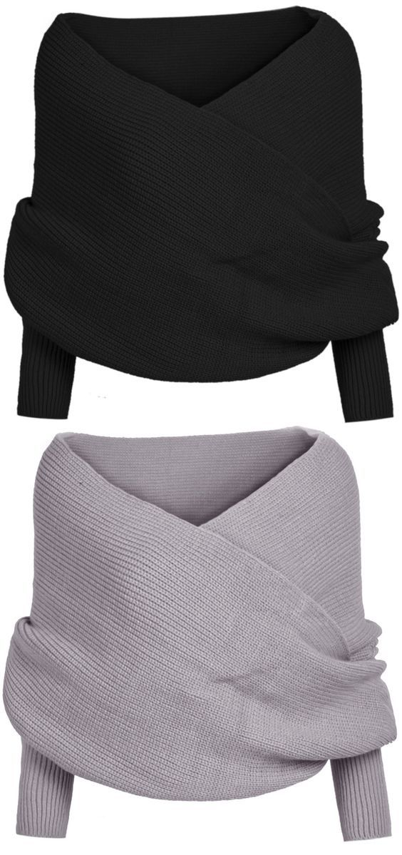 If you are a creative person who loves a more free and versatile style, you definitely should try this Classic Solid Color Wrap Batwing Sleeve V-neck Shawl Sweater from Azbro