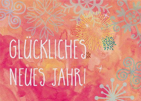 Kartenemma Postkarte   Glückliches neues Jahr!