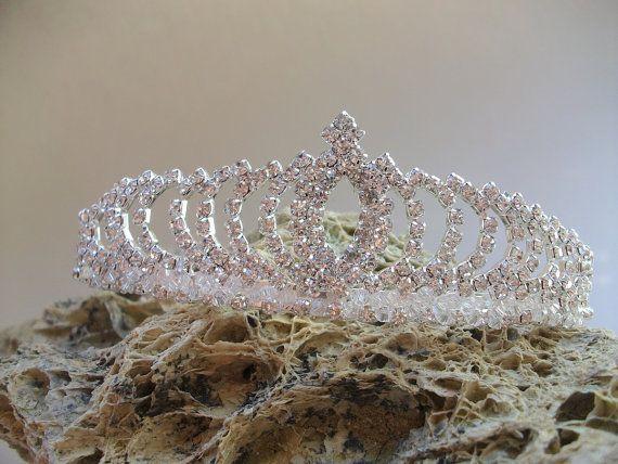Bridal Tiara Crystal Wedding Crown Vintage by DesignByIrenne
