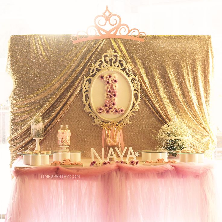 Gorgeous pink and gold princess birthday party! See more party ideas at CatchMyParty.com!